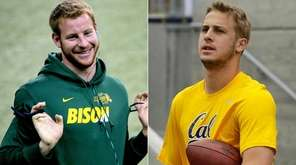 Carson Wentz, left, and Jared Goff, right,