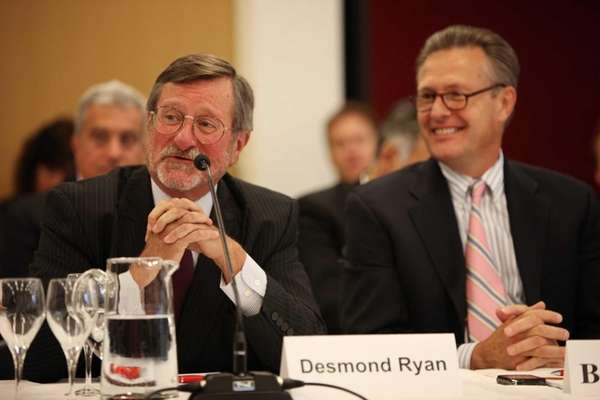 Desmond Ryan, left, of the Association for a