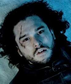 Kit Harington as Jon Snow in a scene