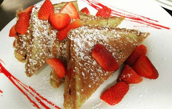 Strawberry French toast is an option at the