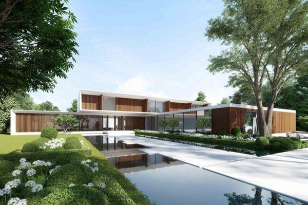 This 10-acre property on Sagg Pond in Bridgehampton,