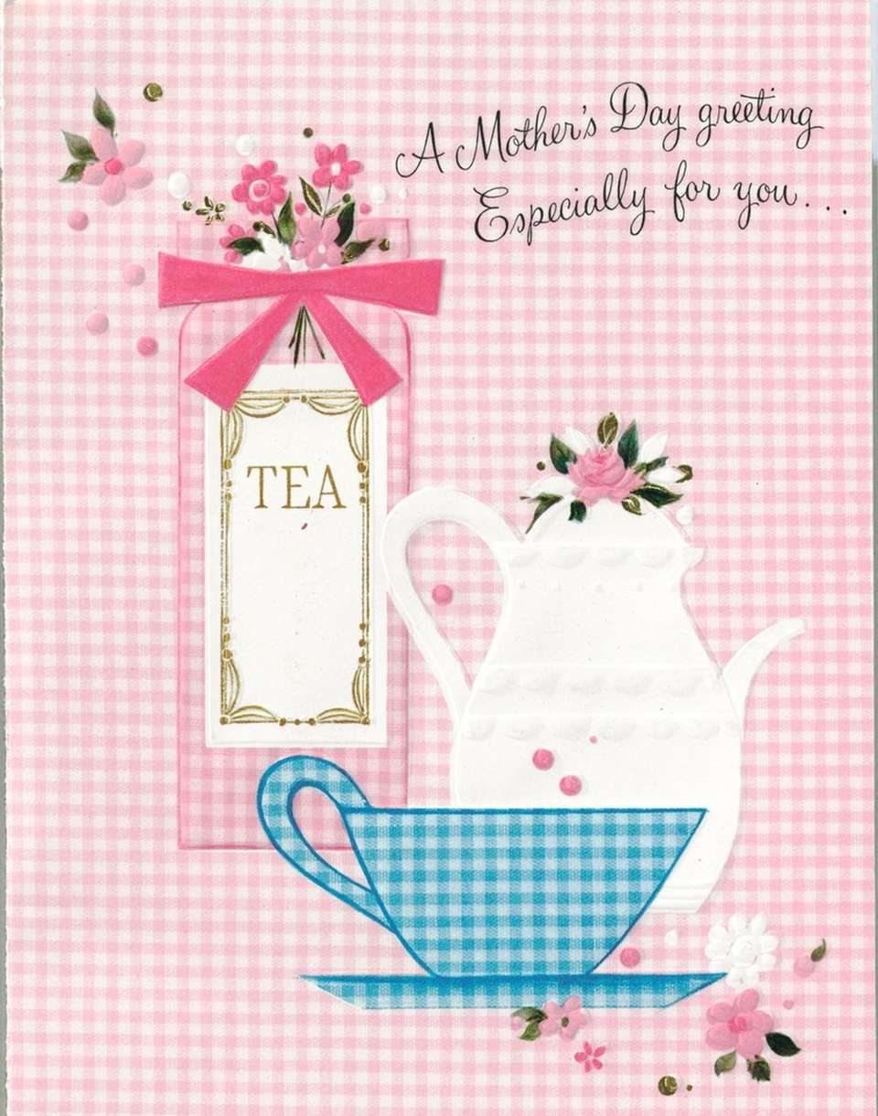 A gingham-themed tea party shared love for mom