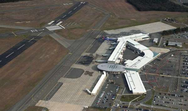 Long Island MacArthur Airport in Ronkonkoma is seen