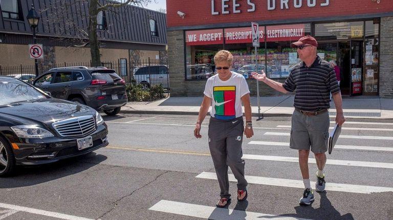 A car stops short, not seeing Chris Schneider