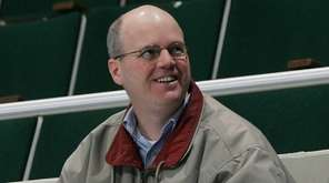 New York Islanders broadcaster Chris King at the