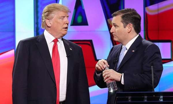 Republican presidential candidates Donald Trump and Sen. Ted