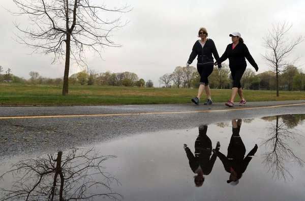 Tricia Schmith, left, of Wantagh, and Joanne Lund,