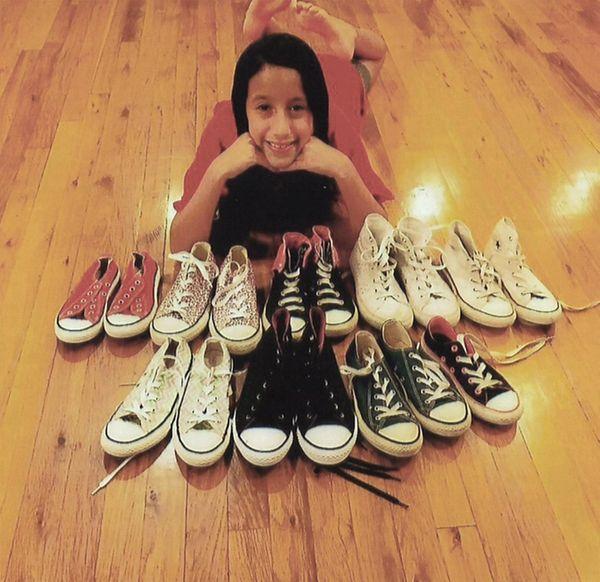 Kidsday reporter Melanie Penafiel has 10 pairs of
