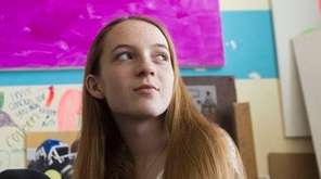 Colleen Sullivan, 17, in her art studio at