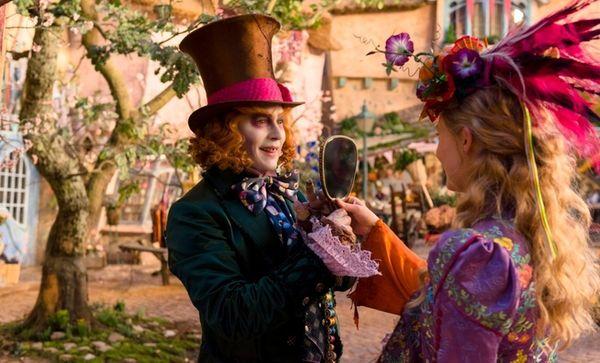 Alice (Mia Wasikowska) returns to the whimsical world