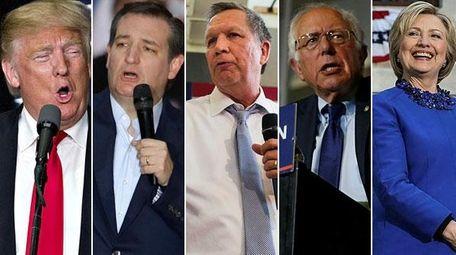 Presidential candidates Donald Trump, Texas Sen. Ted Cruz,