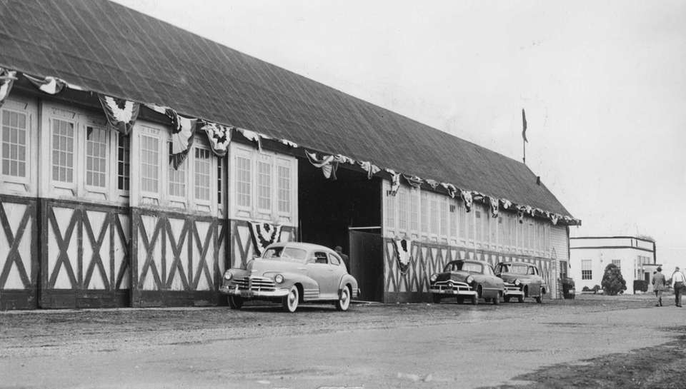 On October 5, 1949, one of the hangars