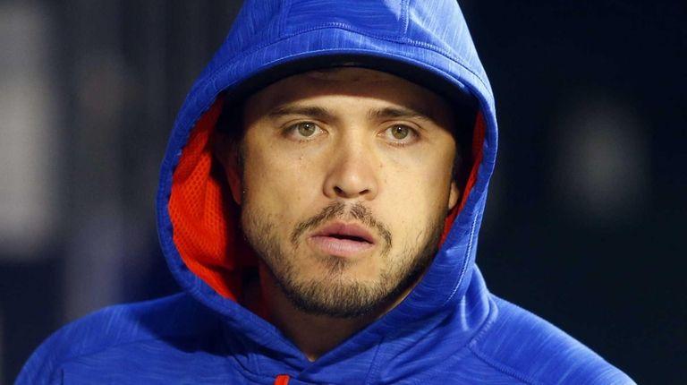 Travis d'Arnaud of the New York Mets looks