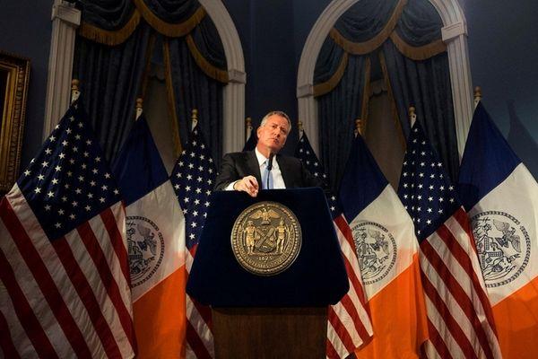 Mayor Bill de Blasio held a press conference