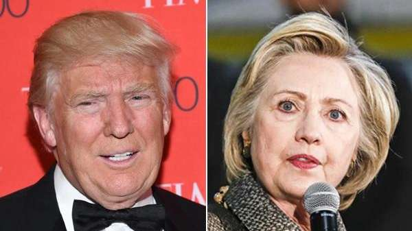 Republican presidential front-runner Donald Trump and Democratic presidential