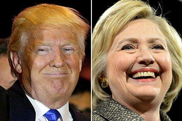 Hillary Clinton and Donald Trump each won multiple