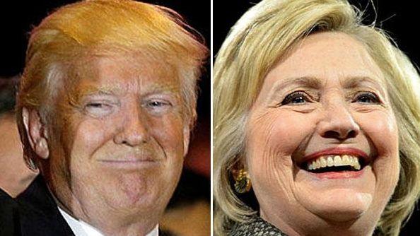 Hillary Clinton and Donald Trump each won multiple