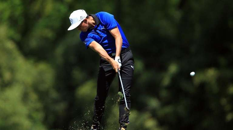 Rickie Fowler of the United States plays