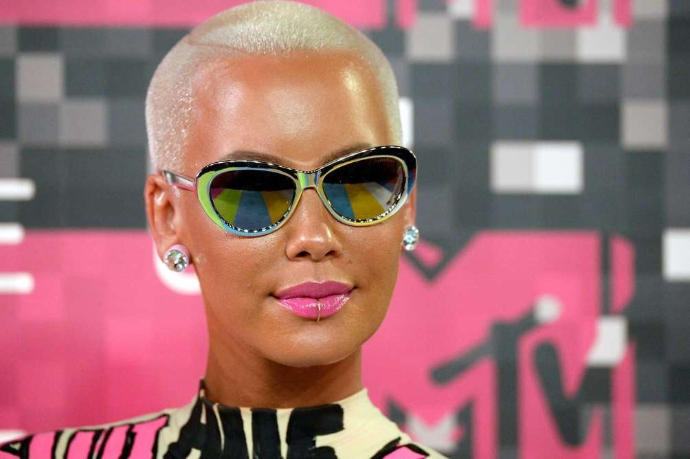 Model Amber Rose and ex-husband, rapper Wiz Khalifa,
