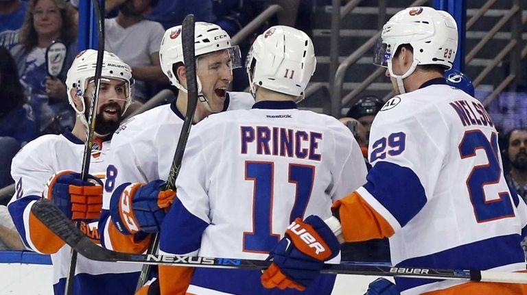 Shane Prince #11 of the New York Islanders