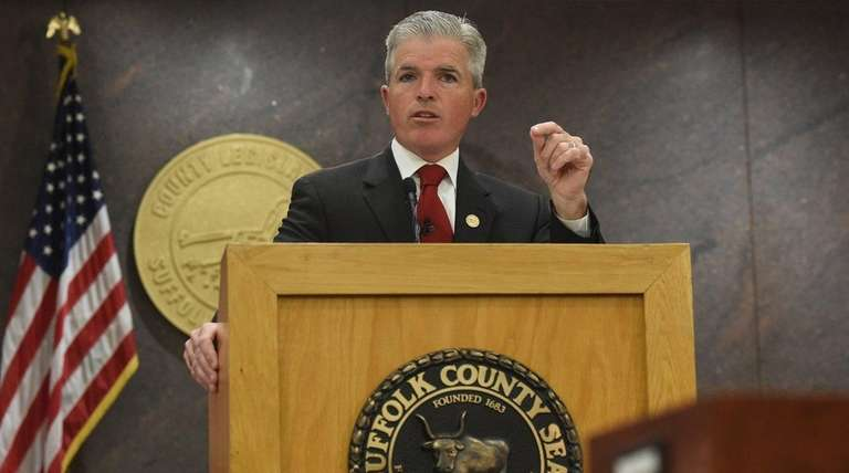 Suffolk County Executive Steve Bellone delivers his