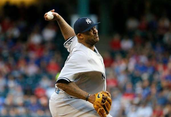 New York Yankees' CC Sabathia allowed three runs