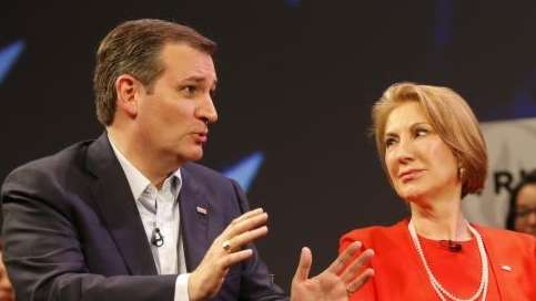 Republican presidential candidate Sen. Ted Cruz, left, and