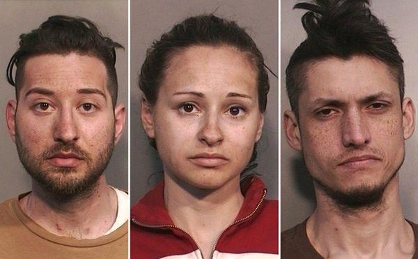 From left, Bethpage residents Nikolas Kougianos, 25, and