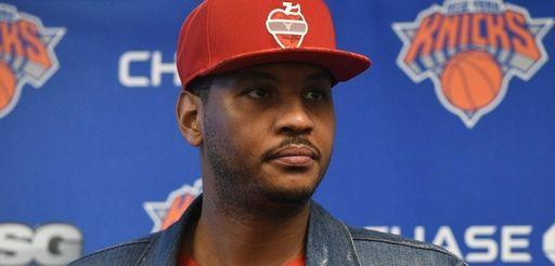 New York Knicks forward Carmelo Anthony again stressed