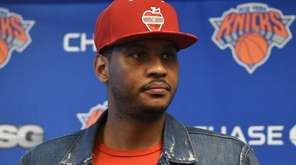 New York Knicks forward Carmelo Anthony again stressed