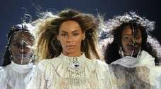 Beyoncé leads her formation on April 27 at