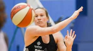 New York Liberty guard Elin Eldebrinkat practiced during