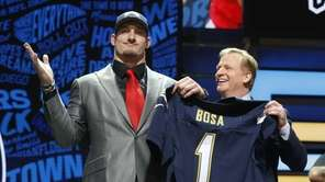 Ohio State's Joey Bosa poses for photos with