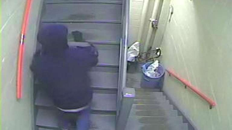 A still image from surveillance video shown to