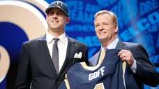 Jared Goff of the California Golden Bears holds
