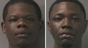 Isiah Peters, 18, left, and Leon E. Thomas,