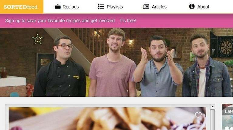 SORTEDfood.com is a quirky website created by a