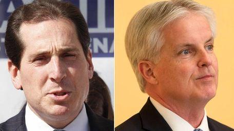 Democrat Todd Kaminsky, left, led Republican Chris McGrath,