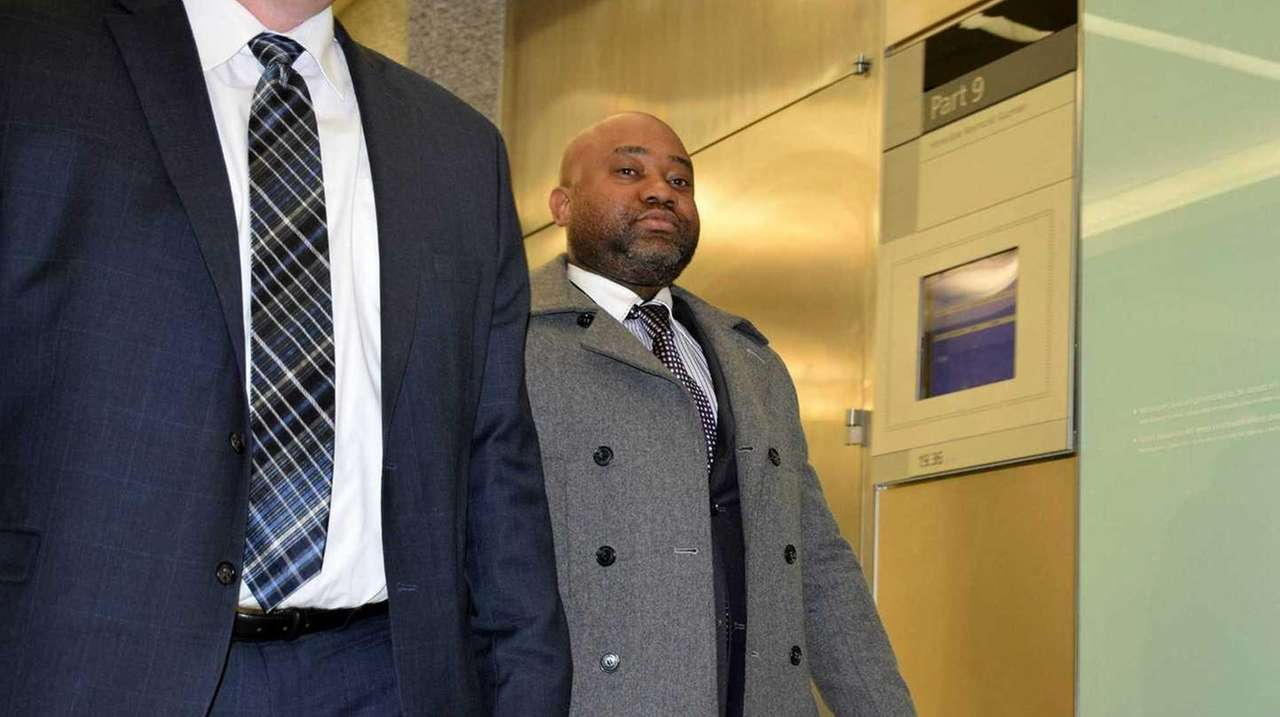 NYPD officer Joel Edouard, 37, who was assigned