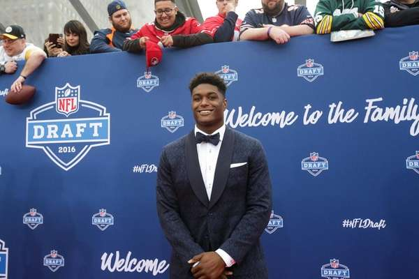 Myles Jack of UCLA arrives to the