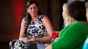Sarah Spain hosts a panel during the espnW: