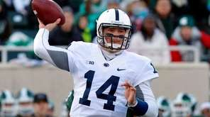 Penn State quarterback Christian Hackenberg throws a pass