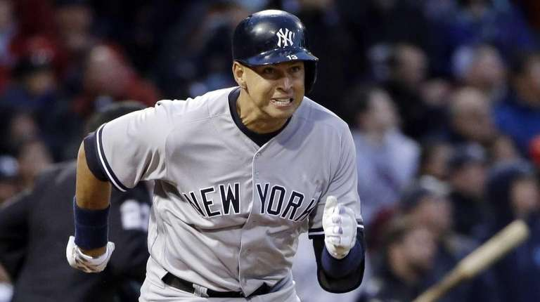 New York Yankees designated hitter Alex Rodriguez runs