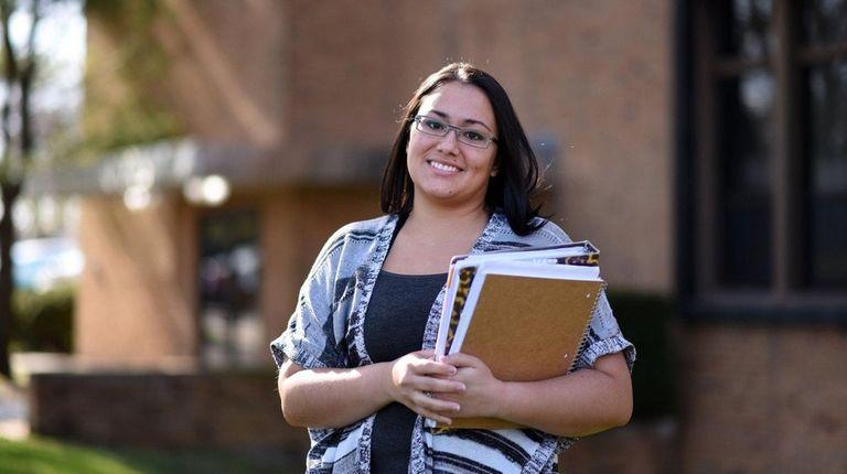 Aisha Sandoval, 26, of Bethpage, at St. Joseph's