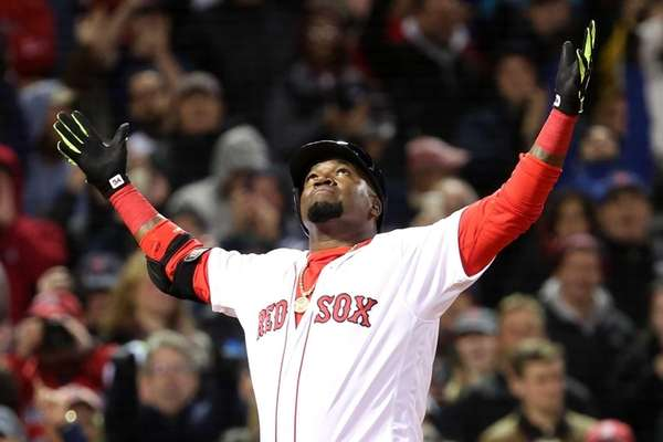 David Ortiz of the Boston Red Sox celebrates