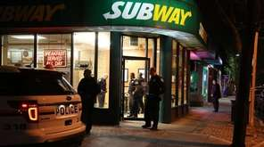 Nassau Police investigate a robbery at a Subway