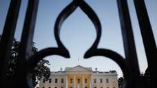 The White House as seen through the fence