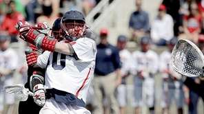 Stony Brook attackman Matt Schultz (40) surprises Hartford