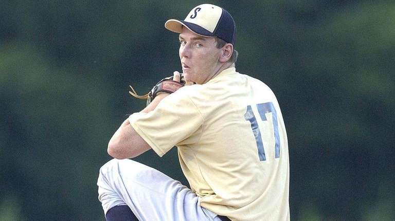 Connetquot's James Lomangino (17), pitches during an All-Star