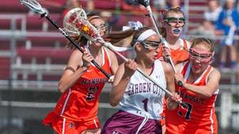 Garden City Girls lacrosse player Michaela Bruno (1),
